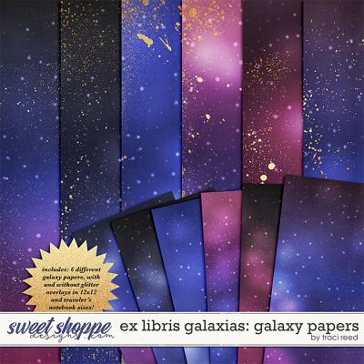 Ex Libris Galaxias Galaxy Papers by Traci Reed