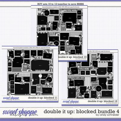 Cindy's Layered Templates - Double It Up: Blocked Bundle 4 by Cindy Schneider