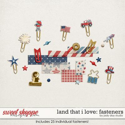 Land That I Love Fasteners by Jady Day Studio