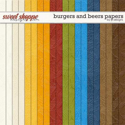 Burgers and Beers Papers by LJS Designs