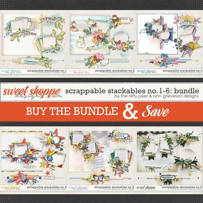 SCRAPPABLE STACKABLES No.1-6 | BUNDLE by The Nifty Pixel & Lynn Grieveson Designs