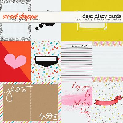 Dear Diary Cards by Amanda Yi and Studio Basic