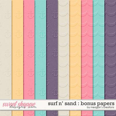 Surf N' Sand : Bonus Papers by Meagan's Creations