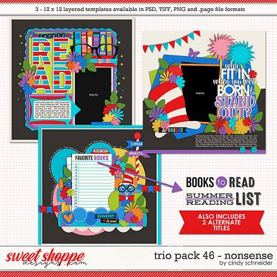Cindy's Layered Templates - Trio Pack 46: Nonsense by Cindy Schneider