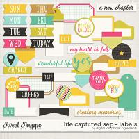 Life Captured September | Labels and Word Art by Digital Scrapbook Ingredients