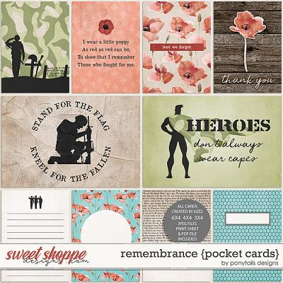Remembrance Pocket Cards by Ponytails