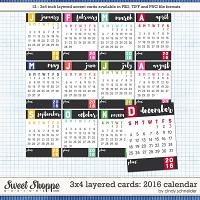 Cindy's Layered Cards - 3x4 2016 Calendars by Cindy Schneider