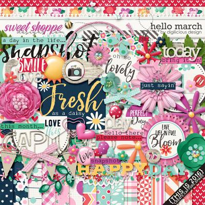 Hello March {Kit} by Digilicious Design