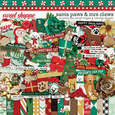 Santa Paws & Mrs Claws by Grace Lee, Brook Magee & Wendyp Designs