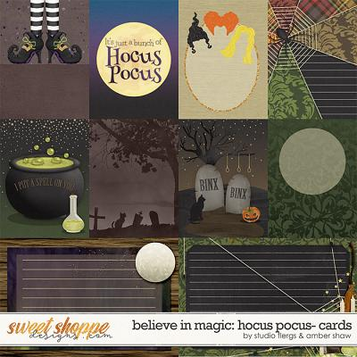Believe in magic: Hocus Pocus Cards by Amber Shaw & Studio Flergs