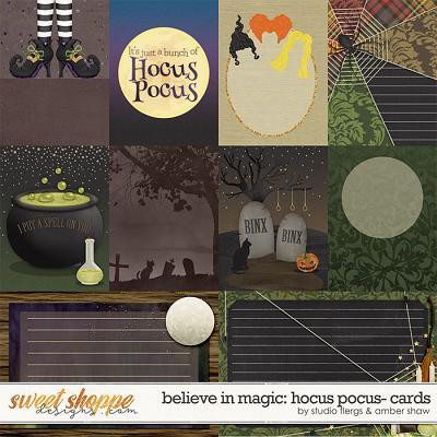 Believe in magic: Hocus Pocus Cards by Amber Shaw & Studio Flergs