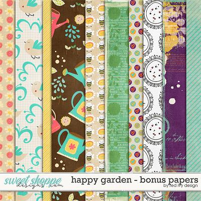 Happy Garden - Bonus Papers by Red Ivy Design