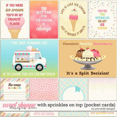 With Sprinkles on Top Pocket Cards by Ponytails