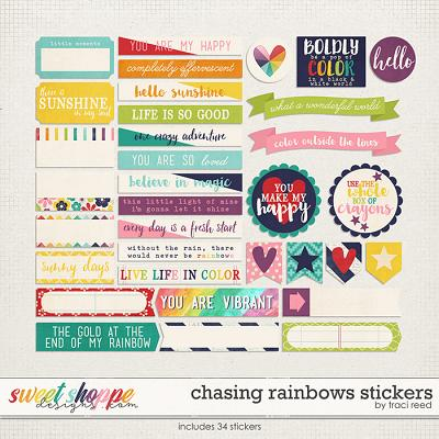 Chasing Rainbows Stickers by Traci Reed