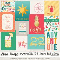 Pocket Life '15: June 3x4 Titlers by Traci Reed