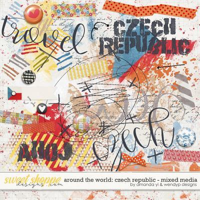 Around the world: Czech Republic - Mixed Media by Amanda Yi & WendyP Designs