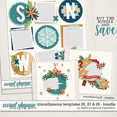 Miscellaneous 26, 27 & 28 Template Bundle by Digital Scrapbook Ingredients
