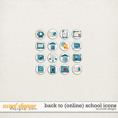 Back to (online) School Icons by JoCee Designs