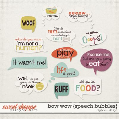 Bow Wow {Speech Bubbles} by Digilicious Design