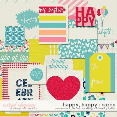 Happy Happy Cards by Amanda Yi, Studio Basic and Two Tiny Turtles