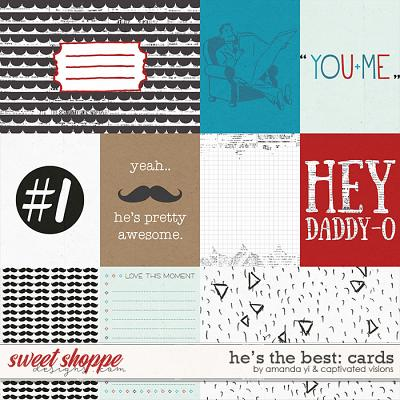 He's the best: cards by Amanda Yi & Captivated Visions