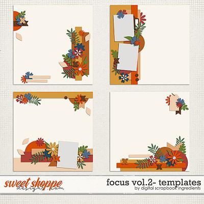 Focus Templates Vol.2 by Digital Scrapbook Ingredients