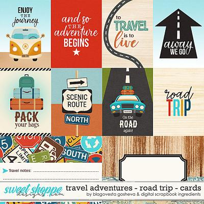 Travel Adventures - Road Trip {cards} by Blagovesta Gosheva & Digital Scrapbook Ingredients
