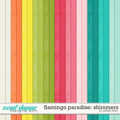 Flamingo Paradise: Shimmers by Amber Shaw