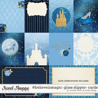 #Believeinmagic: Glass Slipper Cards by Amber Shaw & Studio Flergs