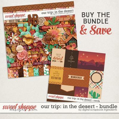 Our Trip: In The Desert Bundle by Digital Scrapbook Ingredients