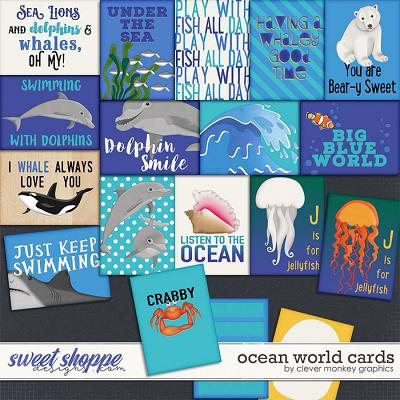 Ocean World Cards by Clever Monkey Graphics