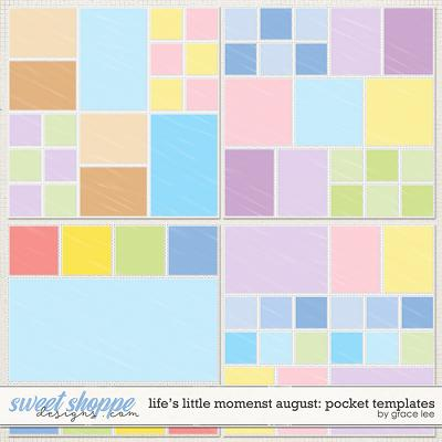 Life's Little Moments August: Pocket Templates by Grace Lee