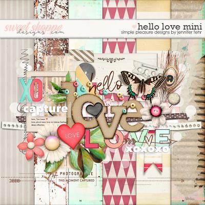 Hello Love Mini:  Simple Pleasure Designs by Jennifer Fehr