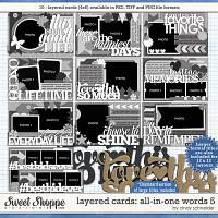 Cindy's Layered Cards:  All in One Words 5 by Cindy Schneider