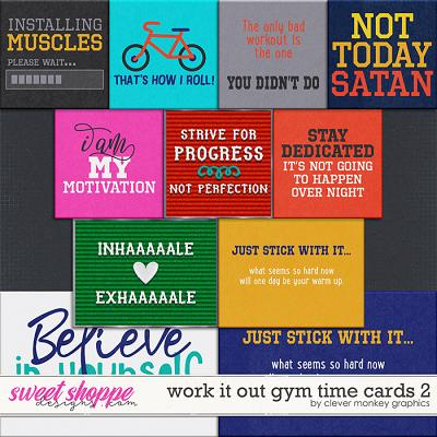 Work it Out Gym Time Cards 2 by Clever Monkey Graphics