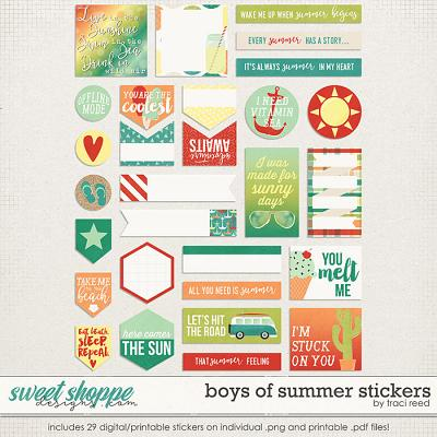 Boys of Summer Stickers by Traci Reed