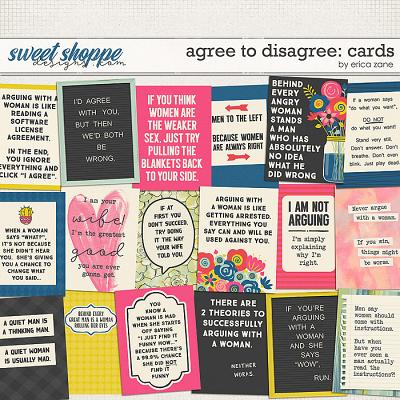 Agree to Disagree: Cards by Erica Zane