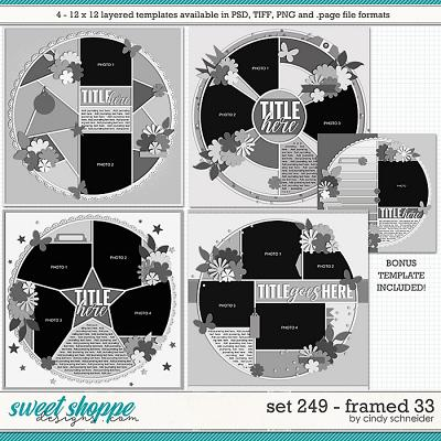 Cindy's Layered Templates - Set 249: Framed 33 by Cindy Schneider +BONUS!