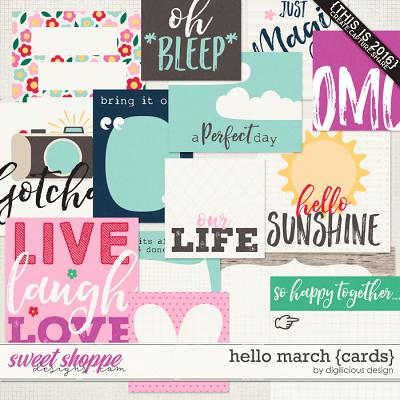 Hello March {Cards} by Digilicious Design