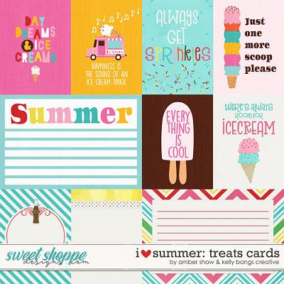 I Heart Summer: Treats Cards by Amber Shaw & Kelly Bangs Creative
