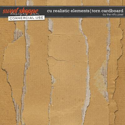 CU REALISTIC ELEMENTS | TORN CARDBOARD by The Nifty Pixel