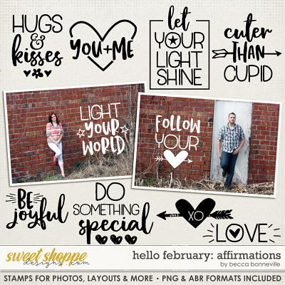 Hello February Affirmations by Becca Bonneville