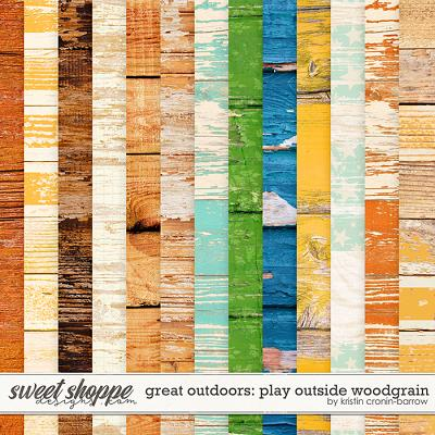 Great Outdoors: Play Outside Woodgrain