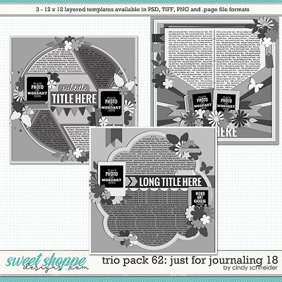 Cindy's Layered Templates - Trio Pack 62: Just for Journaling 18 by Cindy Schneider