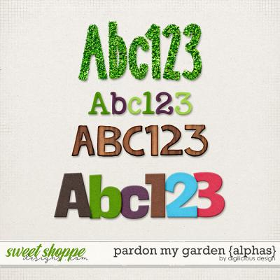 Pardon My Garden {Alphas} by Digilicious Design