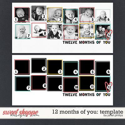 12 MONTHS OF YOU: TEMPLATE by Janet Phillips