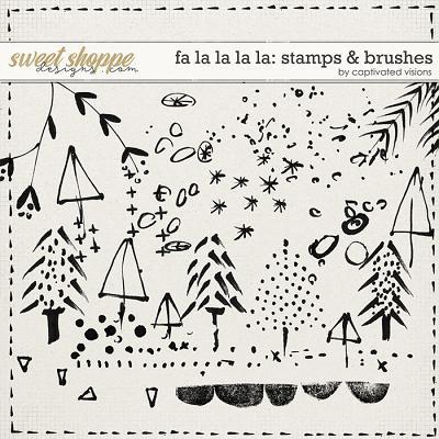 Fa la la la la: Stamps & Brushes by Captivated Visions
