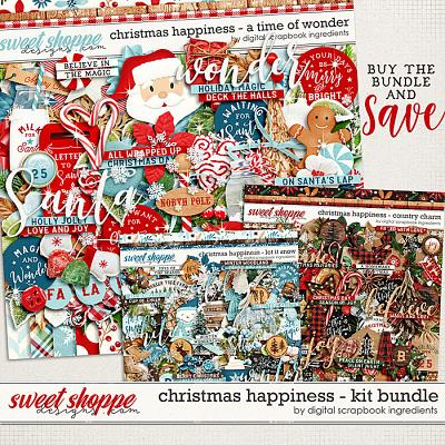 Christmas Happiness Kit Bundle by Digital Scrapbook Ingredients