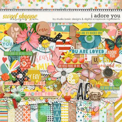 I Adore You Kit by Digital Scrapbook Ingredients and Studio Basic