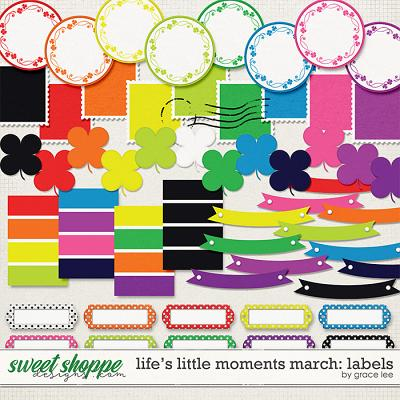 Life's Little Moments March Labels by Grace Lee